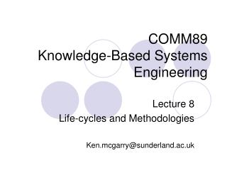 COMM89 Knowledge-Based Systems Engineering