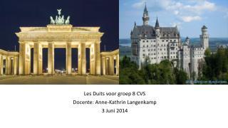 Les  Duits voor groep  8 CVS Docente : Anne-Kathrin Langenkamp 3  Juni  2014