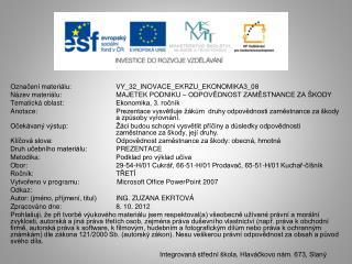 Označení materiálu:  VY_32_INOVACE_EKRZU_EKONOMIKA3_08