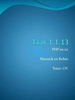Taak 1.1.13
