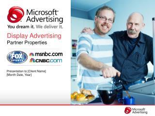 Display Advertising Partner Properties
