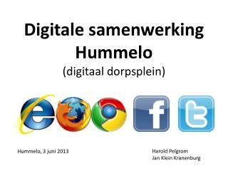 Digitale samenwerking Hummelo  (digitaal dorpsplein)