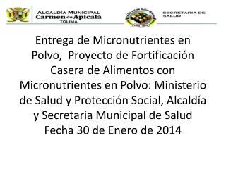 ACTIVIDAD REALIZADA 30 DE ENERO DE 2014
