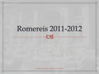 Romereis  2011-2012
