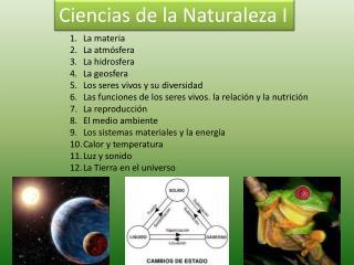 Ciencias de la Naturaleza I