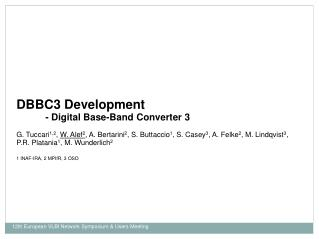 DBBC3 Development - Digital Base-Band Converter 3