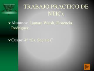 TRABAJO PRACTICO DE NTICx