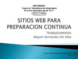 SITIOS WEB PARA PREPARACION CONTINUA