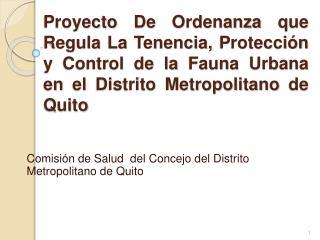 Comisión de Salud  del Concejo d el Distrito Metropolitano de Quito