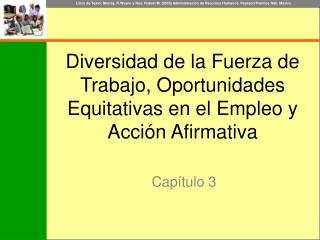Diversidad de la Fuerza de Trabajo, Oportunidades Equitativas en el Empleo y Acción Afirmativa