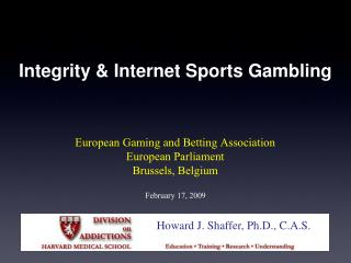 Integrity  Internet Sports Gambling