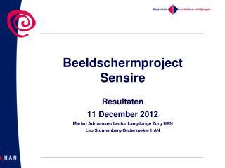 Beeldschermproject Sensire
