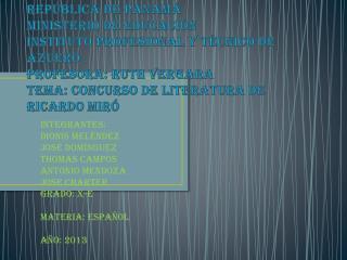 Integrantes: Dionis Meléndez José Domínguez Thomas campos  Antonio Mendoza JOSE CHARTER Grado: x-e