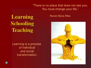 Learning      Schooling           Teaching