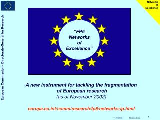 """FP6 Networks of Excellence"""