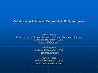 Collaboration Entities on Deterministic Finite Automata