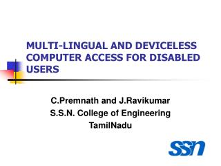 MULTI-LINGUAL AND DEVICELESS COMPUTER ACCESS FOR DISABLED USERS
