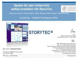 Spiele für den Unterricht  selbst erstellen mit StoryTec