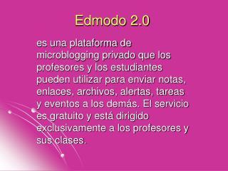 Edmodo 2.0