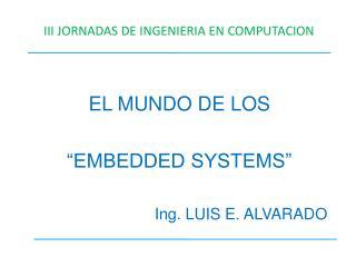III JORNADAS DE INGENIERIA EN COMPUTACION
