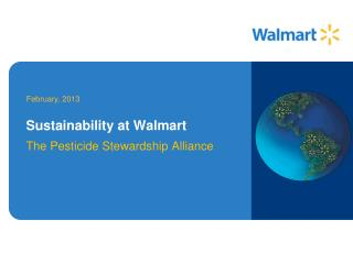 Sustainability at Walmart