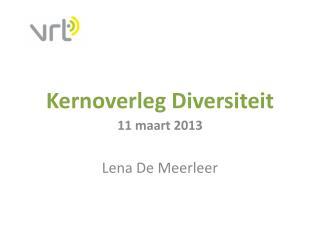 Kernoverleg Diversiteit