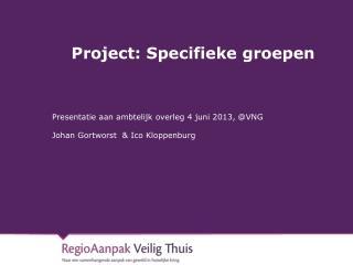 Project: Specifieke groepen
