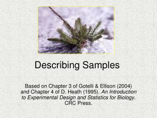 Describing Samples