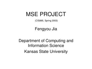 MSE PROJECT
