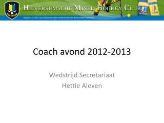 Coach avond 2012-2013