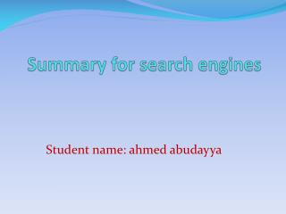 Summary for search engines