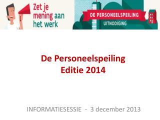 De Personeelspeiling  Editie 2014