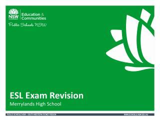 ESL Exam Revision