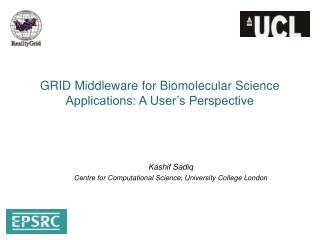GRID Middleware for Biomolecular Science Applications: A User's Perspective