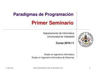Paradigmas de Programación Primer Seminario