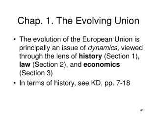 Chap. 1. The Evolving Union