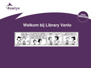 Welkom bij  Library Venlo