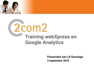 Training webXpress en Google  Analytics