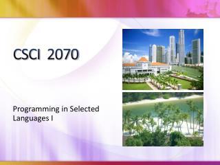 CSCI  2070