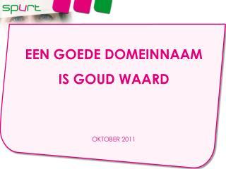 EEN GOEDE DOMEINNAAM  IS GOUD WAARD OKTOBER 2011
