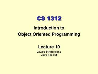 CS 1312