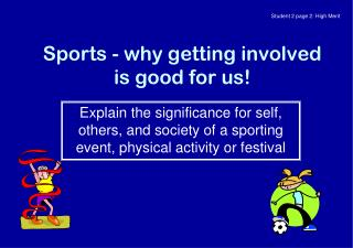 Sports - why getting involved is good for us!