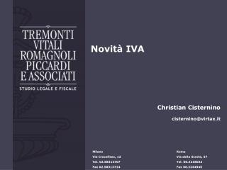 Novità IVA