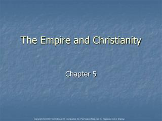 The Empire and Christianity