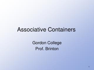 Gordon College Prof. Brinton
