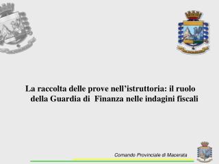 Comando Provinciale di Macerata
