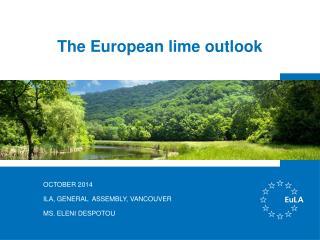 The European lime outlook