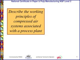 Describe the working principles of compressed air systems associated with a process plant