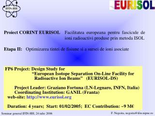 Proiect CORINT EURISOL