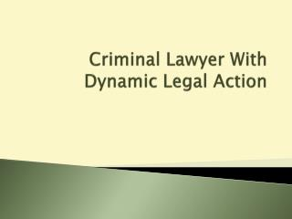 Criminal Lawyer With Dynamic Legal Action